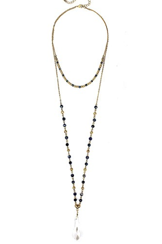Fashion modern chic crystal drop necklace-id.cc39298