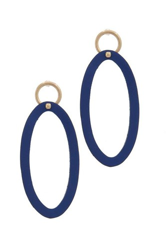 Oval shape circle post drop earring-id.cc39316