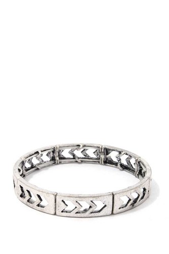 Rustic cut out arrow stretch bracelet-id.cc39318