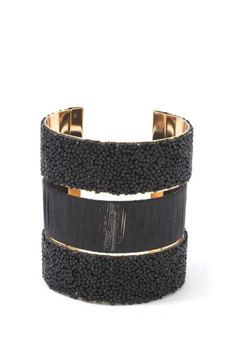 Textured beaded cuff bracelet-id.cc39325