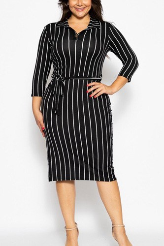 Solid striped, midi tee dress-id.cc39348a