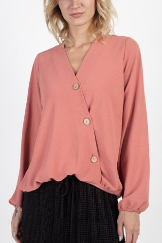 Asymmetrical button front top-id.cc39437