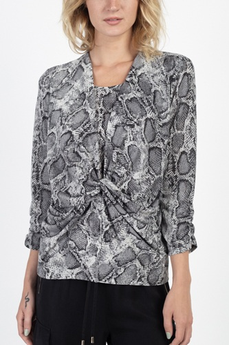 Snake skin twist front top-id.cc39438a