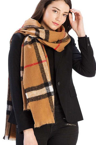 Checker plaid pattern scarf-id.cc39446
