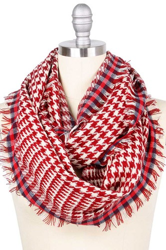 Hounds tooth infinity scarf-id.cc39451