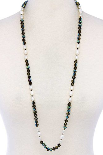 Trendy multi beaded long necklace-id.cc39457