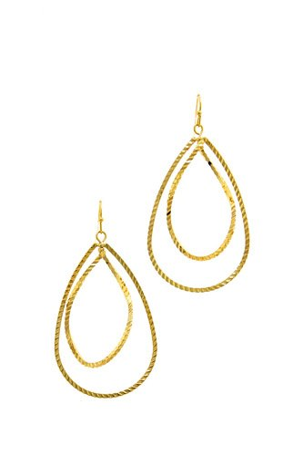 Modern fashion plated brass drop earring-id.cc39463