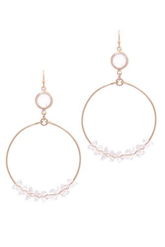 Cutout circle drop earring-id.cc39469