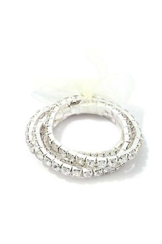 Rhinestone stretch bracelet set-id.cc39471
