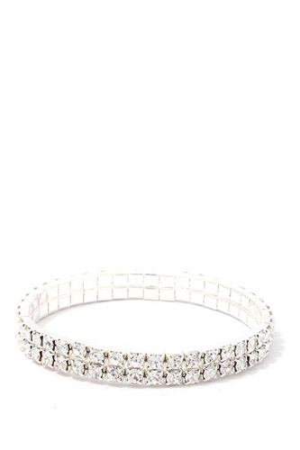 2 layered rhinestone stretch bracelet-id.cc39472