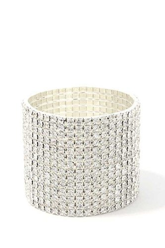 14 layered rhinestone stretch bracelet-id.cc39475