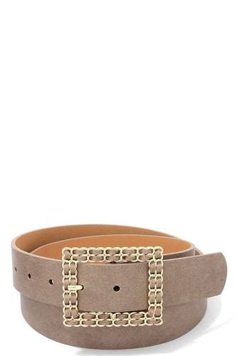 Square shape metal buckle pu leather belt-id.cc39533