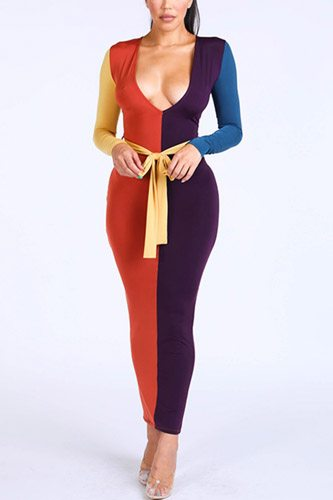 Color blocked maxi dress-id.cc39549