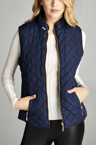 Faux shearling lined quilted padding vest-id.cc39627c