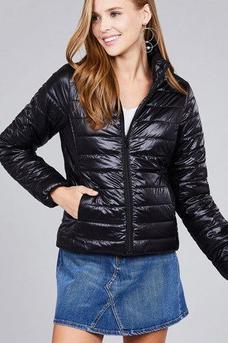 Long sleeve quilted padding jacket-id.cc39629