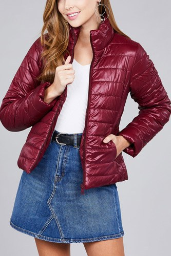 Long sleeve quilted padding jacket-id.cc39629a