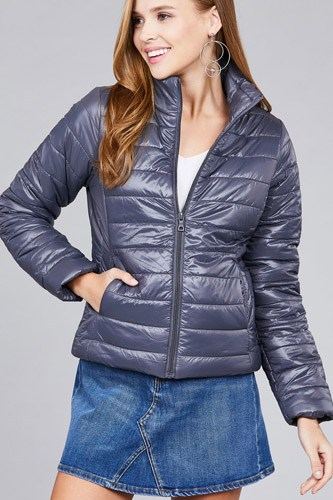 Long sleeve quilted padding jacket-id.cc39629b