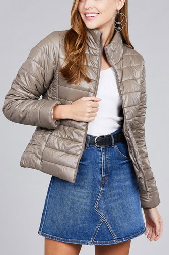 Long sleeve quilted padding jacket-id.cc39629c