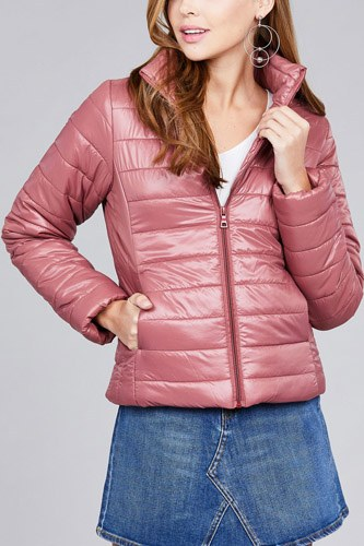Long sleeve quilted padding jacket-id.cc39629d