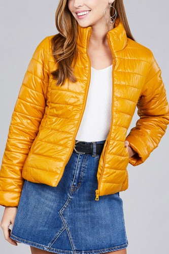 Long sleeve quilted padding jacket-id.cc39629e