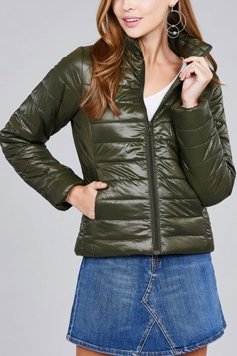 Long sleeve quilted padding jacket-id.cc39629f