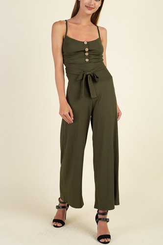 Waist side belt rib jumpsuit-id.cc39632b