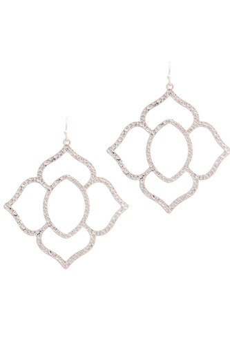 Hammered pointed moroccan shape drop earring-id.cc39650