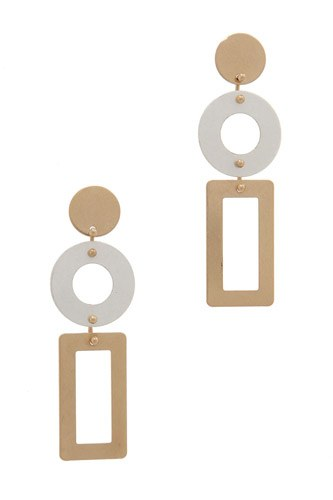 Cut out rectangular shape post drop earring-id.cc39651