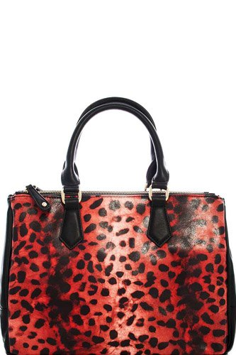 Two tone leopard satchel with long strap-id.cc39664