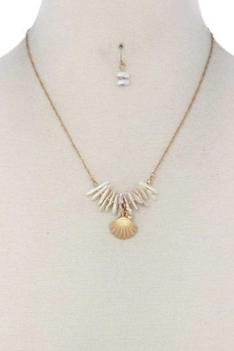 Seashell charm necklace-id.cc39681