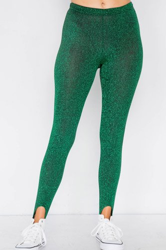 Green glitter stirrup festive leggings-id.cc39714