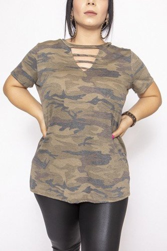 Camouflages and solid dress/top-id.cc39735