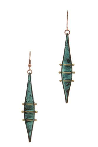 Pointed oval drop earring-id.cc39744