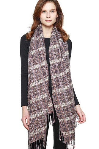 Multi striped fringed scarf-id.cc39756