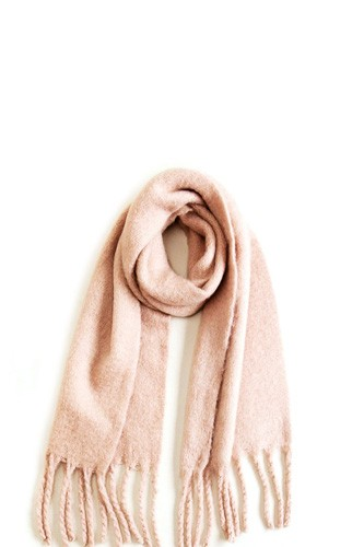 Solid scarf with chunky fringe-id.cc39757