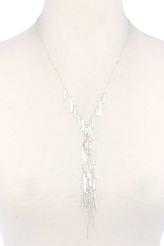 Metal y shape necklace-id.cc39785