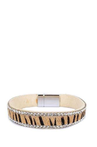 Rhinestone animal pattern magnetic bracelet-id.cc39791