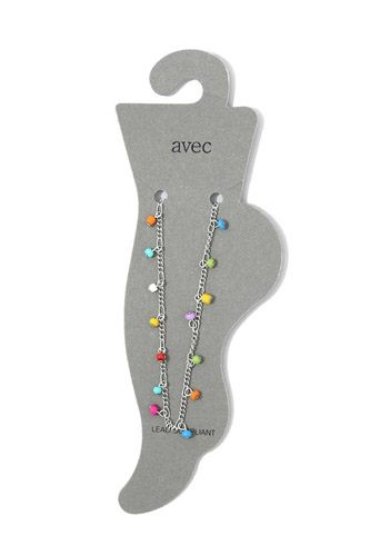 Multi color beaded anklet-id.cc39797