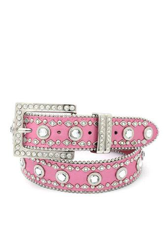 Square buckle rhinestone belt-id.cc39802