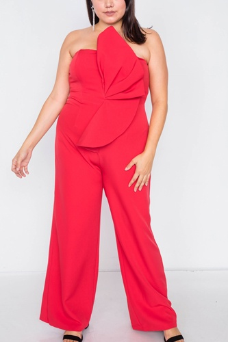 Plus size tailored frill wide leg sleeveless cocktail jumpsuit-id.cc39818a