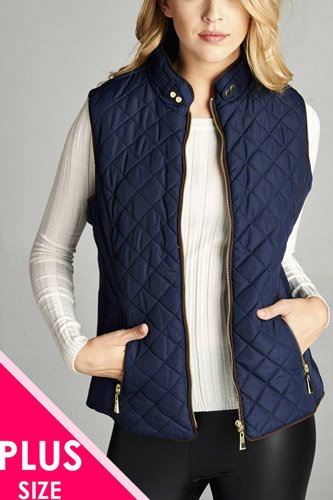 Faux shearling lined quilted padding vest-id.cc39826c