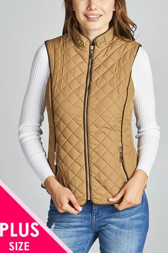 Faux shearling lined quilted padding vest-id.cc39826d