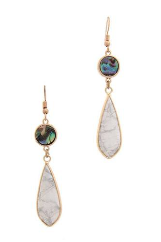Teardrop shape dangle drop earring-id.cc39841