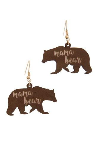 Mama bear drop earring-id.cc39845