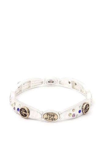 Tree of life metal stretch bracelet-id.cc39848
