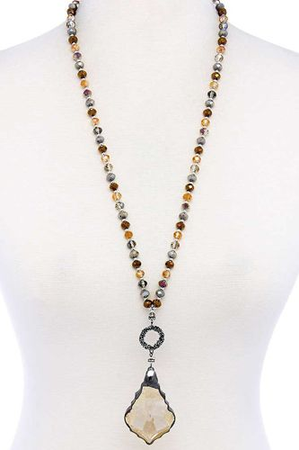 Fashion chic stylish beaded necklace-id.cc39851