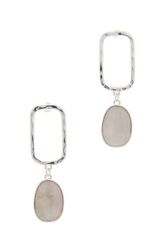 Hammered rectangular shape drop earring-id.cc39854