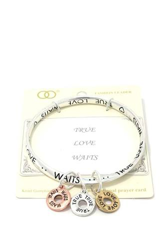 True love waits quote bangle-id.cc39855