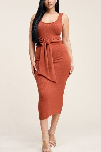 Embellished rib knit sleeveless midi dress-id.cc39876b