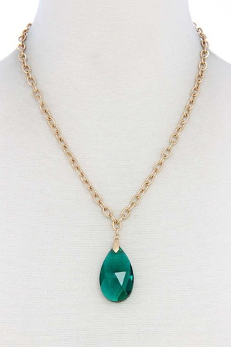 Teardrop pendant necklace-id.cc39881
